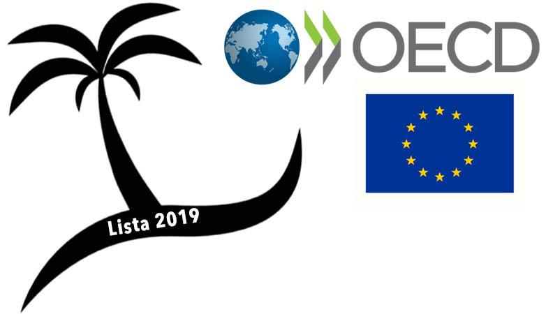 Lista de paraísos fiscales 2019 OCDE